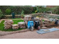 Paving slabs - assorted