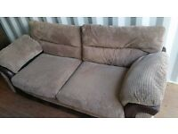 LUSH COMFY WYVERN BROWN CORD 3 & 2 SOFA'S FOR SALE.