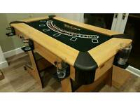 Casino roulette poker games table (fold up)
