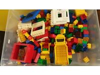 Duplo - good collection of general blocks, figures and vehicles including farm, zoo, ambulance.