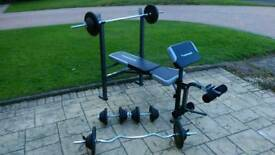 Weights and weight bench
