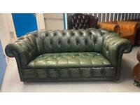 Stunning fully buttoned 2 seater leather chesterfield sofa £495