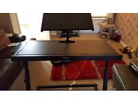IBIZA DJ DECK STAND WITH LAPTOP SHELF AND STAR CLOTH