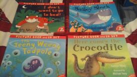 set of 4 reading picture books & cds excellent condition