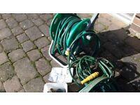Hozelock 2'n1 hose and reel.