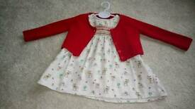 Next 0-3 month dress and cardigan