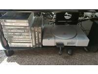 playstation 1 console and games collection
