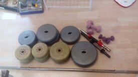 Selection of weights and bar