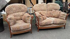 two plus one chair patio cane soild can deliver good cond