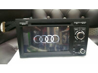 BOXED AND BRAND NEW AUDI A4 ANDROID CAR STEREO WITH BLUETOOTH, WIFI, AND FULL EUROPE MAPS