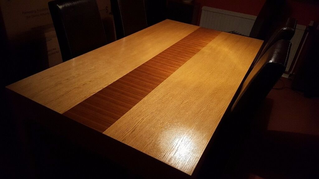 Heavy Contemporary Pine Dining Table