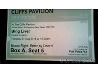 cliffs pavilion BING LIVE! tickets