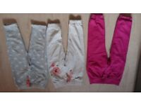 Set of 3 TU Little Girls Lovely Trousers 2-3 years