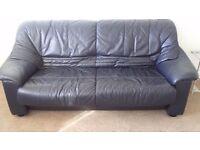 Navy 3 seater sofa