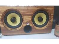 Thodio ibox XC high density tiger stripe bamboo wireless speaker
