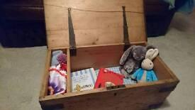 Antique vintage chest trunk