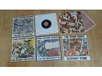 6 x stone roses 7 inch singles elephant stone / ressurection / bangs the drum / love spreads /