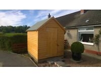 Brand New Garden Shed Log Effect 8x6 Lined Inside with Shelving