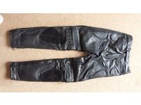 LEATHER BELSTAFF MOTORCYCLE TROUSERS