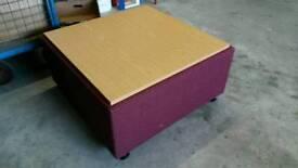 Coffee table/storage ottoman