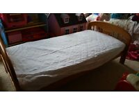 Cot bed / Toddler bed with Mothercare mattress, protector and bedding