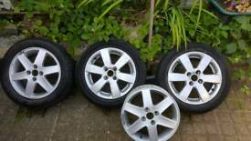 Alloy wheels. 2 fine. 2 dented. Suzuki swift.