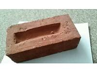 Imperial red manufactured bricks x 500.( Paid £594.00.) Will split pallet .!£250oro