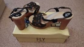 Fly London new heels size 5 black