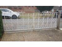 Driveway metal gates.