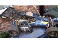 1/5 scale petrol buggy rc radio controlled