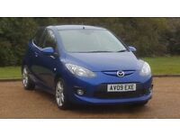 MAZDA 2 SPORT 1498cc 09PLATE 2009 1P/LADY OWNER 96000 MILES FULL SERVICE HISTORY MANUAL AC ALLOYS