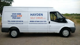 VAN HIRE CHINGFORD - HAYDEN SELF DRIVE LTD. - LOW DEPOSIT - SAME DAY HIRE AVAILABLE - TRANSIT !!!!!
