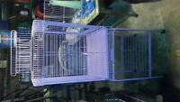 bird cage with matching stand