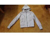 Women RIVER ISLAND size 10 36 hooded leather coat jacket
