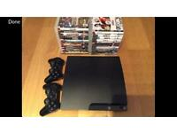 PS3 slim 300gb with 25 games. Excellent condition.