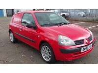 2005 55 RENAULT CLIO VAN 1.5 DCI 65 MOT10/17 DIESEL ( PART EX WELCOME )