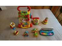 Baby walker and toys bundle