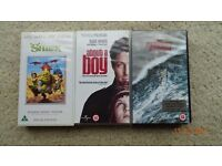 3 VHS Tapes (Category U &12)