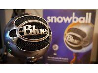 SnowBall blue USB Mic Chrome - Studio quality BOXED £50