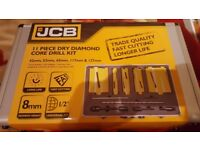 JCB CORE DRILL SET 11 PIECE Brand New