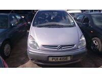 2003 CITROEN XSARA PICASSO SX, 2.0 HDI, BREAKING FOR PARTS ONLY, POSTAGE AVAILABLE NATIONWIDE