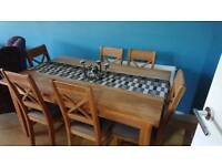 Solid Oak Dining Table (chairs free)