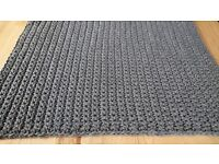 Handmade-to-order Square / Rectangle Crochet Cotton Rug / Any size of your choice / 33 Yarn Colors