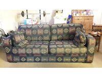 Large sofa aztec style print