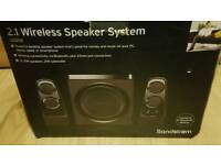 Soundstorm 2.1 wireless speaker system boxed like new!Can deliver or post!