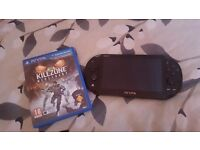 ps vita and game only used a few times no charger though