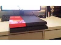PS4 TRADE FOR XBOX ONE PS4 HAS CHARGER, 6 GAMES, PS4 STAND, CONTROLLER NEW CONDITION!