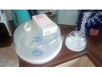 Free avent microwave steriliser and bottle