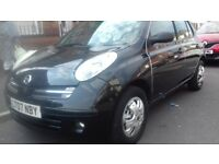 Black Nissan Micra 1240cc Manual Hatchback fitted with dual controls for learner driver
