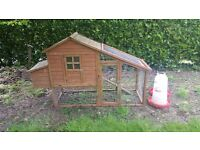 Chicken Coop and 2 water butts for chickens